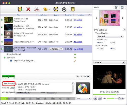 Make Videos to DVD or DVD folder, ISO image