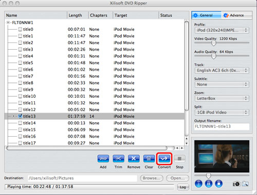 Convert DVD to QuickTime