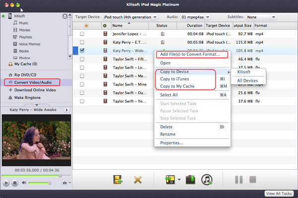 Convert and transfer any videos/audios to iPod